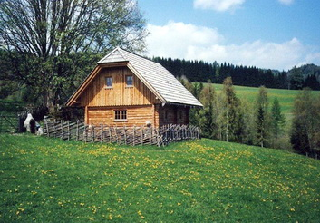 sterreich k rnten ferienh tte mit sauna. Black Bedroom Furniture Sets. Home Design Ideas